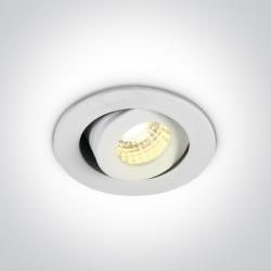 One Light Lampa LED mini do salonu biała Psari 11103B/W/W
