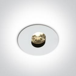 One Light Lampa LED do sypialni biała Alona 11103D/W/W