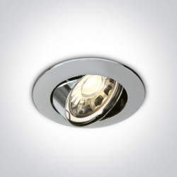 One Light Lampa wpust klasyczny chrom GU5.3 Ewrichu 11105/C