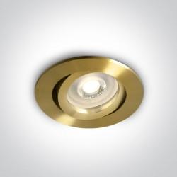 One Light Wpust mosiądz mat GU10 Koraku 11105A1/BBS