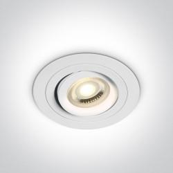 One Light Lampa wpust biały hotel Kaliana 11105ABG/W