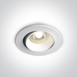One Light Wpust lampa do salonu biała Tsakistra 11105B1/W