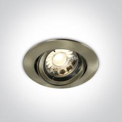 One Light Lampa wpust do sypialni antyczny mosiądz Lemitu 11105C/ABS