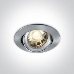 One Light Lampa wpust do sypialni srebrny Lemitu 11105C/N