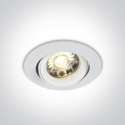 One Light Lampa wpust do sypialni biały Lemitu 11105C/W