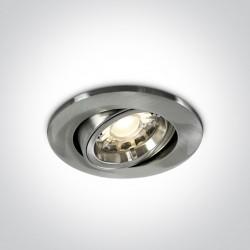 One Light Wpust do sypialni z osłoną chrom mat Saittas 11105CF/MC