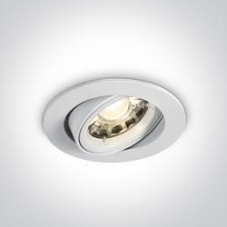 One Light Wpust regulowany biały Troodos 11105CGU/W