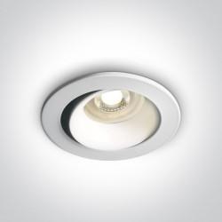 One Light Wpust lampa do salonu biała Monagri 11105D7/W