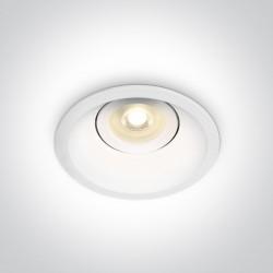 One Light Lampa wpust do kuchni biały Amiandos 11105DT/W