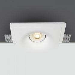 One Light Wpust kwadrat biały gipsowy Jerasa 11105GT5