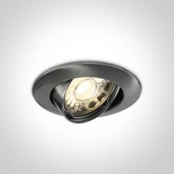 One Light Wpust chrom mat klasyczny do sypialni Matikoloni 11105GU/MC