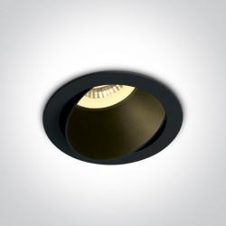 One Light Lampa LED do sypialni czarna Vitali 11105M/B/B