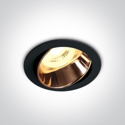 One Light Lampa LED do sypialni czarna miedź Vitali 11105M/B/CU