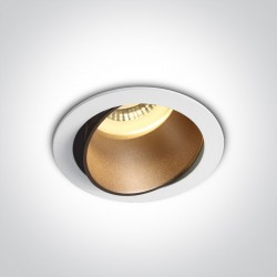 One Light Lampa LED do sypialni biała mosiężna Vitali 11105M/W/BS
