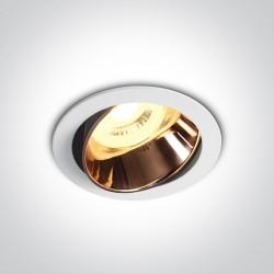 One Light Lampa LED do sypialni biała miedziana Vitali 11105M/W/CU