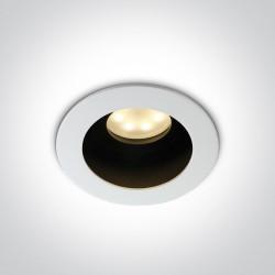One Light Wpust lampa do sypilani biała ciemna Korfi 11105TA/W