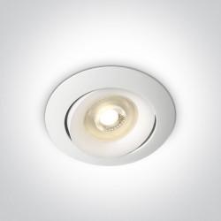 One Light Lampa biała kucnia retro wypukła Arta 11105U/W