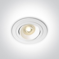 One Light Lampa biała kuchnia retro pierścień Arta 2 11105UB/W