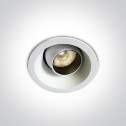 One Light Lampa LED biała do jadalni salonu Ewosmos 11106M/W/W