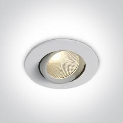 One Light Lampa LED wpust biały uniwersalny Glifada 11107B/W/W