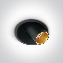 One Light Wpust LED czarny regulowany Karistos 11107C/B/W