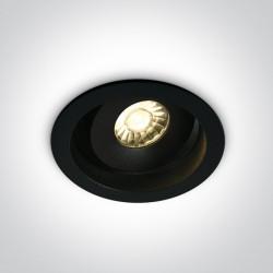One Light Wpust lampa regulowana czarna Kawala 11107DA/B/W
