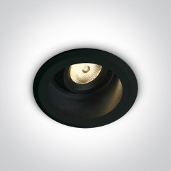 One Light Lampa LED czarna do sklepu hotelu Kifisia 11107DL/B/W