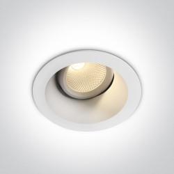 One Light Wpust lampa LED biała Koropi 11107FD/W/EW