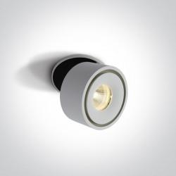 One Light Lampa biała LED do sklepu salonu Nausa 11108LA/W/W