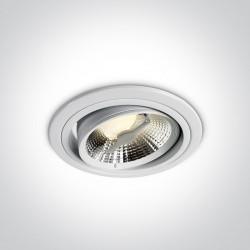 One Light Lampa wpust biała do sklepu salonu Pylaia 11110D/W