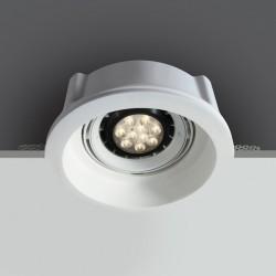 One Light Lampa oprawa gipsowa regulowana Retimno 11110GT1
