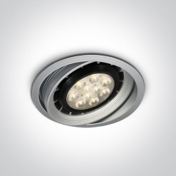 One Light Lampa szara sklepowa Teby 11110R/G