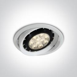 One Light Lampa biała sklepowa Teby 11110R/W