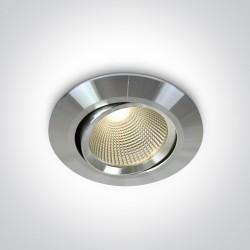 One Light Lampa LED kierunkowa aluminiowa Zografos 11112/AL/W