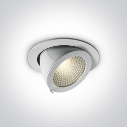 One Light Lampa regulowana LED w białej oprawie Aliartos 3 11120F/W/W