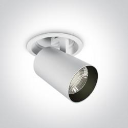 One Light Lampa LED do sklepu biała Ewdilos 11125RA/W/C