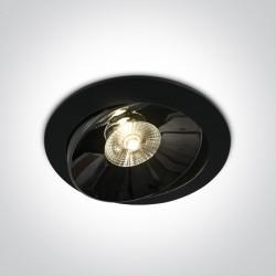 One Light Lampa LED w czarnej oprawce lustro Filiates 11130E/B/W