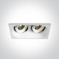 One Light Lampa LED podwójna do łazienki Kiria 2 11207WD/W/W IP54