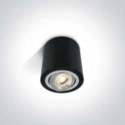 One Light Lampa LED tuba czarna Kroczkos 12105AB/B