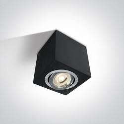 One Light Lampa sufitowa czarna Langadas 12105AC/AL