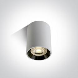 One Light Lampa sufitowa biało-czarna Lawrio 12105AL/B/GL
