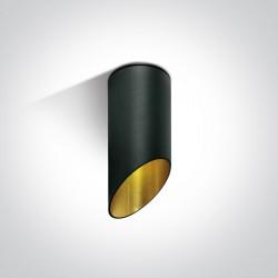 One Light Lampa sufitowa czarna złota ścięta Lindos 12105E1/B/GL