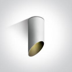 One Light Lampa sufitowa biała ścięta Lindos 12105E1/W/B
