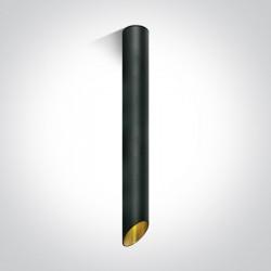 One Light Lampa sufitowa rura czarna złota Lutraki 12105E3/B/GL