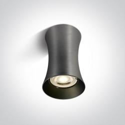 One Light Lampa sufitowa szara walec Mawromati 12105F/MG