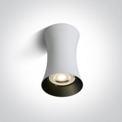 One Light Lampa sufitowa biała walec Mawromati 12105F/W