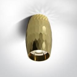 One Light Lampa sufitowa mosiężna stylowa Monolitos 12105H/BS