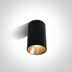 One Light Czarna stylowa lampa sufitowa Mistra 12105M/B