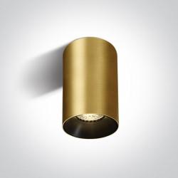 One Light Mosiężna stylowa lampa sufitowa Mistra 12105M/BBS