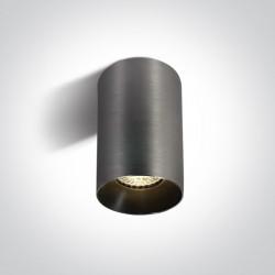 One Light Szara stylowa lampa sufitowa Mistra 12105M/MG